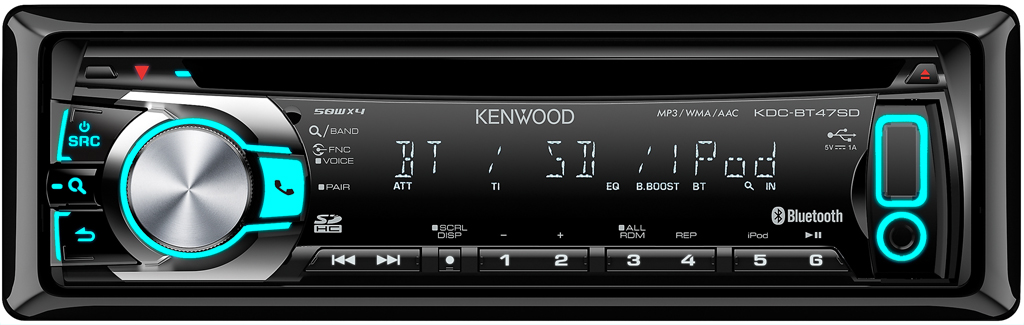 CD/USB ресивер Kenwood KDC-BT47SD
