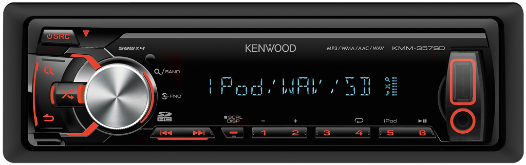 USB/iPod ресивер Kenwood KMM-357SD